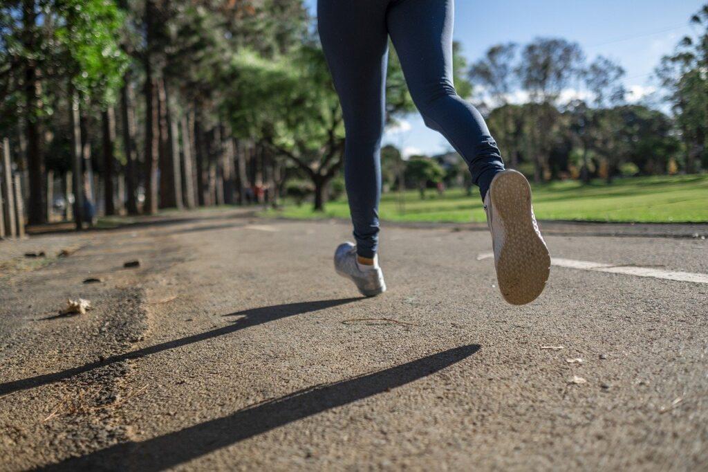 running, woman, race